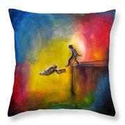 Step Of Faith Throw Pillow