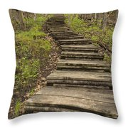 Step Trail In Woods 17 A Throw Pillow
