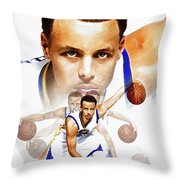 Steph Curry 2017 Profile Throw Pillow