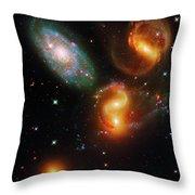 Stephan's Quintet Throw Pillow