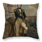 Stephen Decatur Throw Pillow by Granger