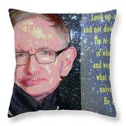 Stephen Hawking Poster Throw Pillow