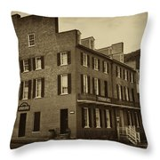 Stephensons Hotel - Harpers Ferry  West Virginia Throw Pillow