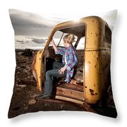 Stepping Away Throw Pillow