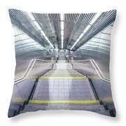 Stepping Down To The Underground Throw Pillow