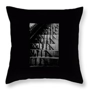 Stepping On Shadows Throw Pillow
