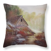 Stepping Out Of The Woods Throw Pillow