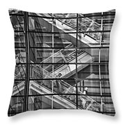 Stepping Panes Throw Pillow