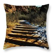 Steps And Shadows Throw Pillow