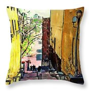 Steps At 187 Street Throw Pillow
