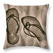 Steps From The Beach Throw Pillow