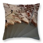 Steps From The Wall Throw Pillow