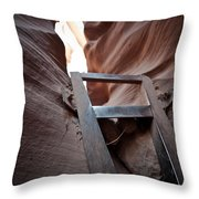 Steps In A Slot Throw Pillow
