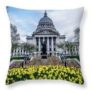 Steps In Bloom Throw Pillow