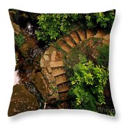 Steps Leading Up The Stairway To Heaven Throw Pillow