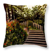 Steps Of Monte Rio Throw Pillow