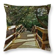 Steps To Adventure Throw Pillow
