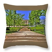 Steps To The Nelson Throw Pillow