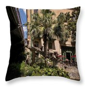 Steps To The Riverwalk Throw Pillow