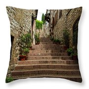Steps To The Sky Throw Pillow