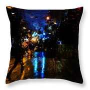 Steps Towards Night  Throw Pillow