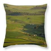 Steptoe Butte 3a Throw Pillow