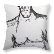 Steriod Dude Throw Pillow