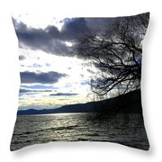 Sterling Silver Sunset Throw Pillow