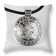 Sterling Silver Viking Celtic Cross Throw Pillow