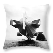 Stern Of Zeppelin Airship - 1908 Throw Pillow