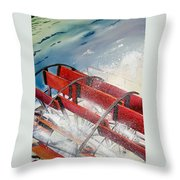 Sternwheeler Splash Throw Pillow