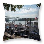 Sternwheel Festival - Marietta, Ohio  Throw Pillow
