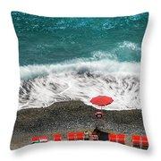 ...stessa Spiaggia... Stesso Mare...  ...the Same Beach... The Same Sea... Throw Pillow