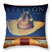Stetson The Hat Of The West Signage Throw Pillow