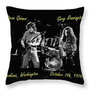 Steve And Gary In Spokane 2 Throw Pillow