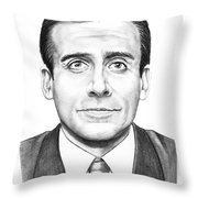 Steve Carell Throw Pillow