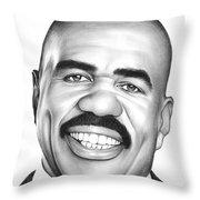 Steve Harvey Throw Pillow
