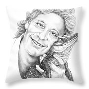 Steve Irwin Crocodile Hunter Throw Pillow