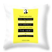 Steve Jobs Quote Throw Pillow