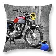 Steve Mcqueen Isdt 1964 Throw Pillow