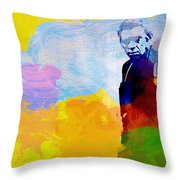 Steve Mcqueen Throw Pillow by Naxart Studio