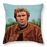 Steve Mcqueen Painting Throw Pillow