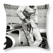 Steve Mcqueen's Lola T70 Mkii B Racer Throw Pillow