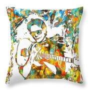 Steve Vai Paint Splatter Throw Pillow
