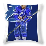 Steven Stamkos Tampa Bay Lightning Oil Art Series 2 Throw Pillow