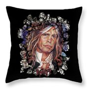 Steven Tyler Aerosmith Throw Pillow