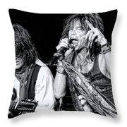Steven Tyler Croons Throw Pillow