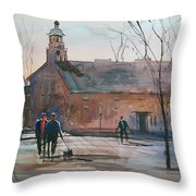 Steven's Point Church Throw Pillow