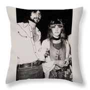 Stevie Nicks And Lindsey Buckingham Throw Pillow