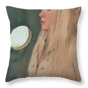 Stevie Nicks In Profile Throw Pillow
